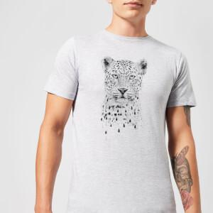 Balazs Solti Leopard Men's T-Shirt - Grey