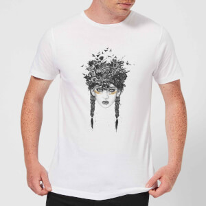 Balazs Solti Native Girl Men's T-Shirt - White