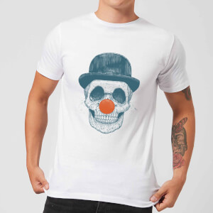 Balazs Solti Red Nosed Skull Men's T-Shirt - White
