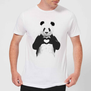 Balazs Solti Panda Love Men's T-Shirt - White