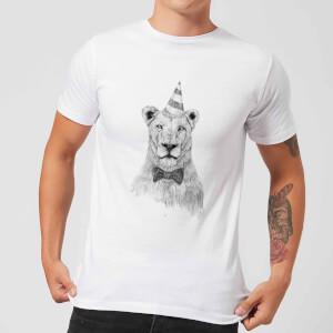 Balazs Solti Party Lion Men's T-Shirt - White