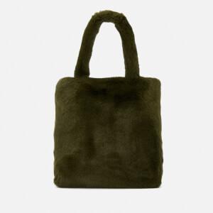 Whistles Women's Hattie Faux Fur Tote Bag - Khaki