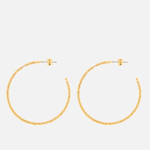 Whistles Women's Seed Bead Large Hoop Earrings - Gold