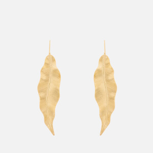 Whistles Women's Large Leaf Earrings - Gold