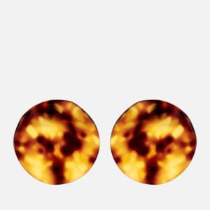 Whistles Women's Tort Folded Disc Stud Earrings - Brown/Multi