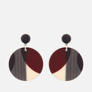 Whistles Women's Geometric Circle Resin Earrings - Burgundy