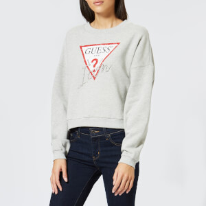 Guess Women's Icon Fleece Sweatshirt - Grey