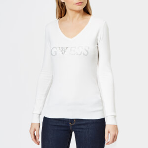 Guess Women's Long Sleeve Geneva Sweatshirt - White