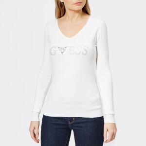 Guess Women's Long Sleeve Geneva Sweatshirt - White
