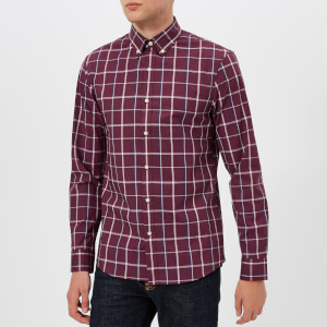 Michael Kors Men's Window Pain Shirt - Cordovan