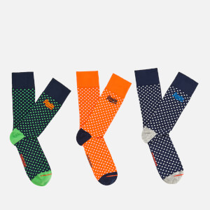 Superdry Men's 3 Pack Socks - Tennis Dot/Black Dot/Red Dot