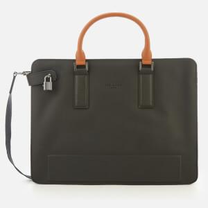 Ted Baker Men's Stark Micro Perf Leather Document Bag - Black