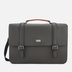 Ted Baker Men's Machu Crossgrain Satchel Bag - Charcoal