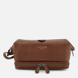 Ted Baker Men's Chocks Exotic Leather Wash Bag - Tan
