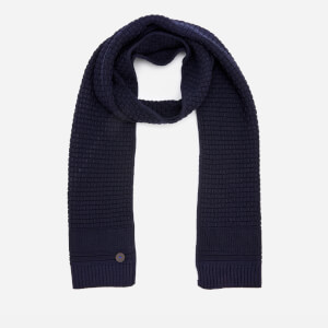 Ted Baker Men's Auscarf Textured Knitted Scarf - Navy