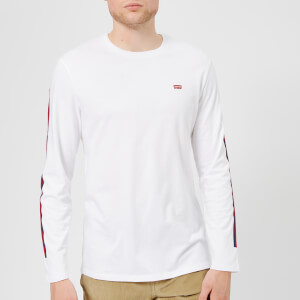 Levi's Men's Long Sleeve Reissue T-Shirt - White/Dress Blues/Crimson