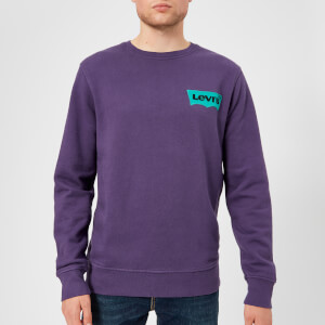 Levi's Men's Modern HM Crew Neck Sweatshirt - Purple Plumiera