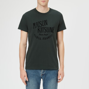 Maison Kitsuné Men's Palais Royal Crew Neck T-Shirt - Dark Green