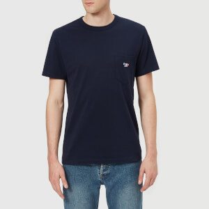 Maison Kitsuné Men's Tricolor Fox Patch T-Shirt - Navy