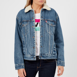Levi's Women's Ex-BF Sherpa Trucker Jacket - Addicted To Love
