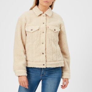 Levi's Women's All Over Sherpa Trucker Jacket - Cloud Cream