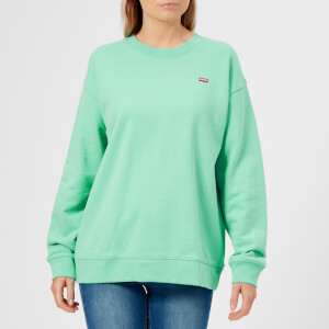 Levi's Women's Oversized Crew Neck Sweatshirt - Garment Dye to Cascade