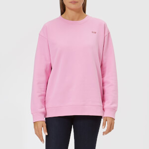 Levi's Women's Oversized Crew Neck Sweatshirt - Garment Dye to Cyclamen