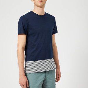 Orlebar Brown Men's Sammy Block Hem T-Shirt - Navy/Cloud