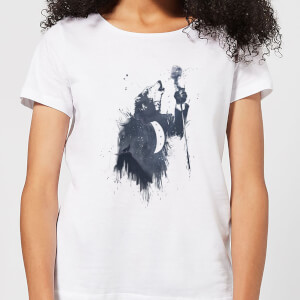 Balazs Solti Singing Wolf Women's T-Shirt - White