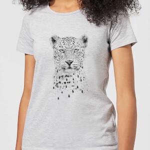 Balazs Solti Leopard Women's T-Shirt - Grey