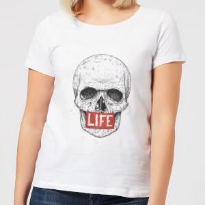 Balazs Solti Life Skull Women's T-Shirt - White