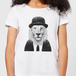 Balazs Solti Monocle Lion Women's T-Shirt - White