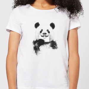 Balazs Solti Moustache And Panda Women's T-Shirt - White