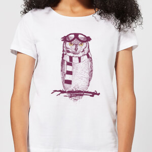 Balazs Solti Winter Owl Women's T-Shirt - White