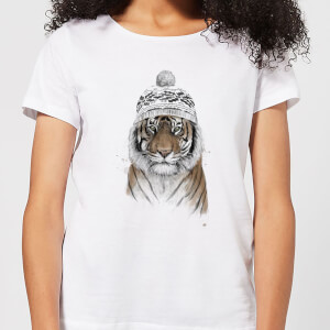 Balazs Solti Winter Tiger Women's T-Shirt - White