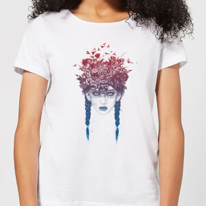 Balazs Solti Native Girl Women's T-Shirt - White