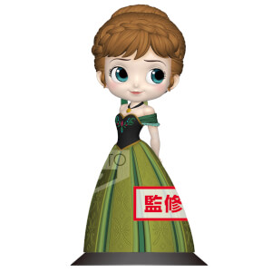 Banpresto Q Posket Disney Frozen Anna Coronation Style Figure 14cm (Normal Colour Version)