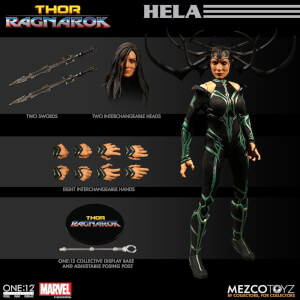 Figurine Hela Thor: Ragnarok Mezco One: 12 Collective Marvel Échelle 1/12