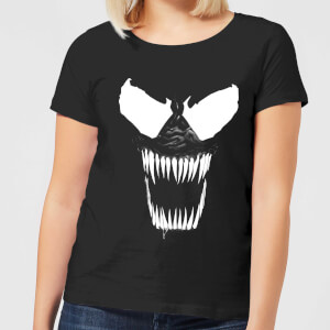 Camiseta Marvel Venom Dientes - Mujer - Negro