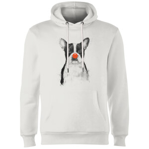 Balazs Solti Red Nosed Bulldog Hoodie - White