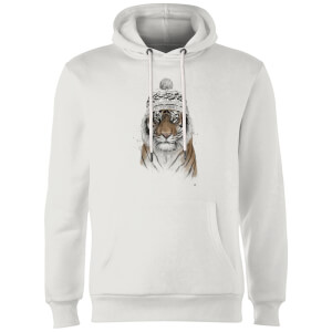 Balazs Solti Winter Tiger Hoodie - White