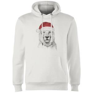 Balazs Solti Santa Bear Hoodie - White