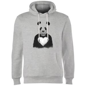 Balazs Solti Panda Love Hoodie - Grey