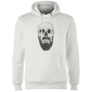 Balazs Solti Bearded Skull Hoodie - White
