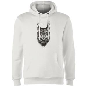 Balazs Solti Wolf Hoodie - White