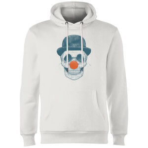 Balazs Solti Red Nosed Skull Hoodie - White