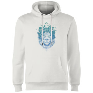 Balazs Solti Lion And Butterflies Hoodie - White
