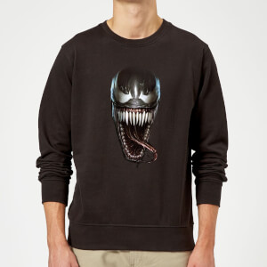 Venom Face Photographic Sweatshirt - Black
