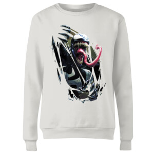Venom Chest Burst Women's Sweatshirt - White