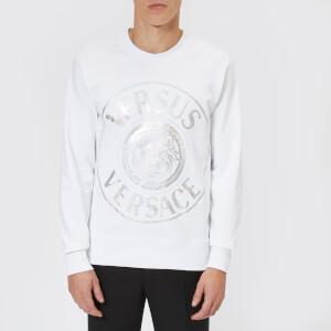 Versus Versace Men's Silver Logo Sweatshirt - White